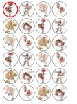 24 x Flower Fairies Edible Rice Wafer Paper Cupcake Toppers